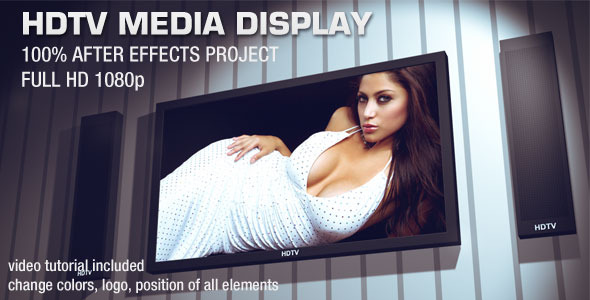 After Effects Project - VideoHive 3D HDTV Media Display 1763556
