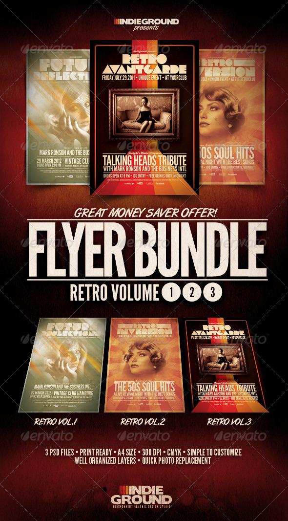 GraphicRiver Retro Flyer Poster Bundle Vol 1-3 286970
