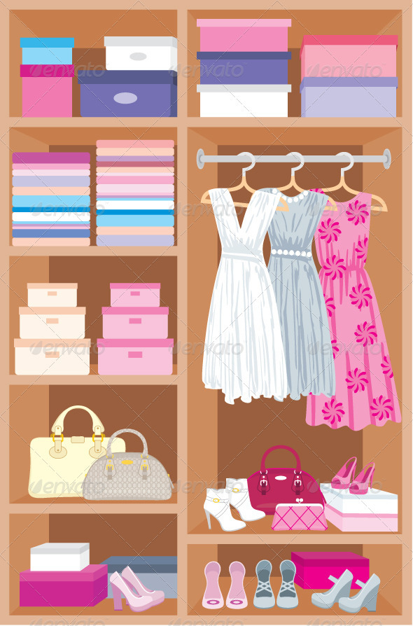 Graphic River Wardrobe room Furniture Vectors -  Objects 1764791
