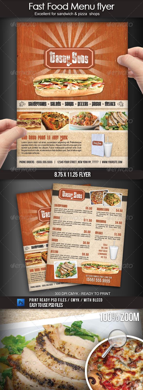 GraphicRiver Fast Food Menu Flyer 1708556