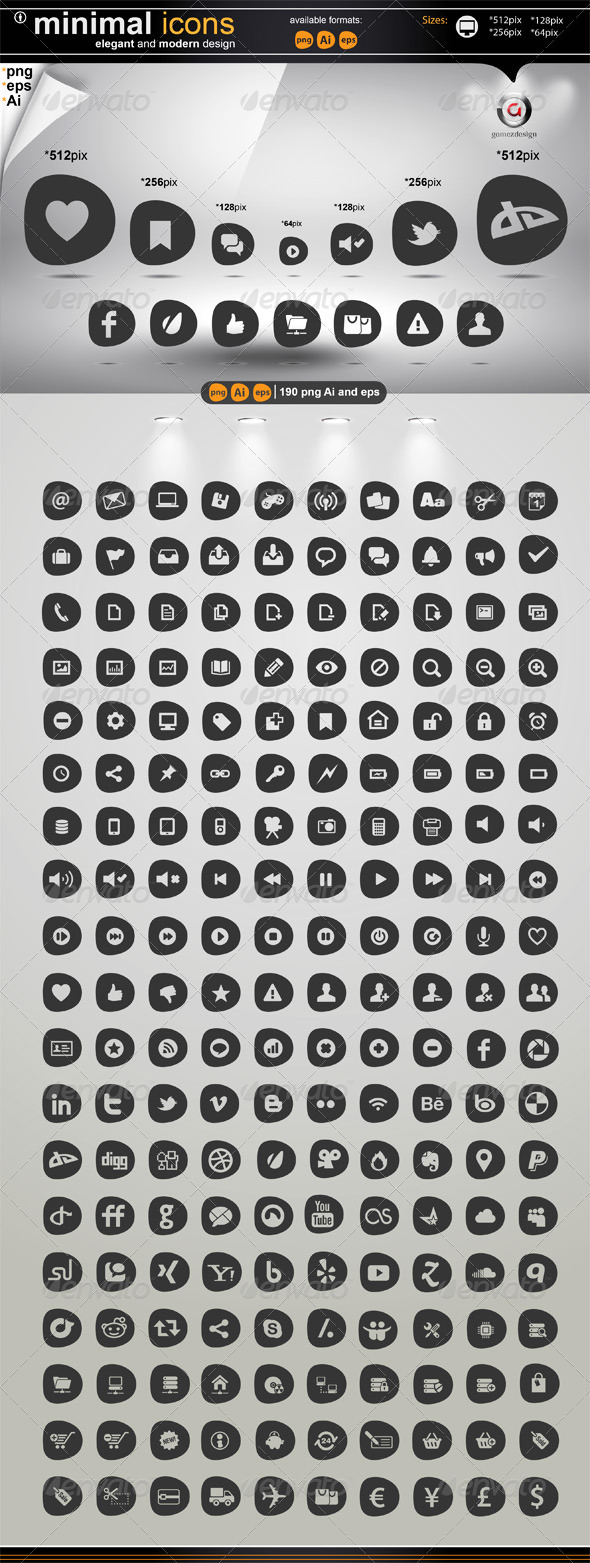 GraphicRiver Minimal Icons 1768457