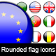 Rounded flags icon - GraphicRiver Item for Sale