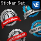 4 Metallic Web Seals - GraphicRiver Item for Sale