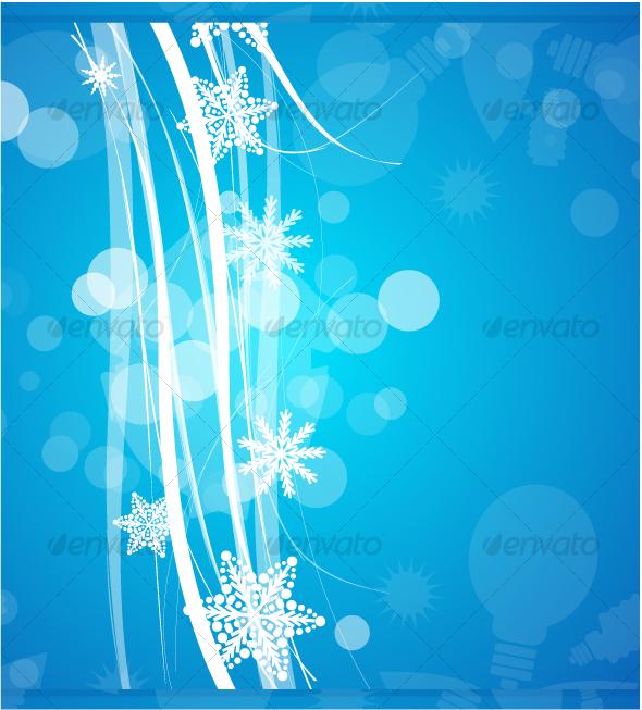GraphicRiver Blue Christmas background 69137