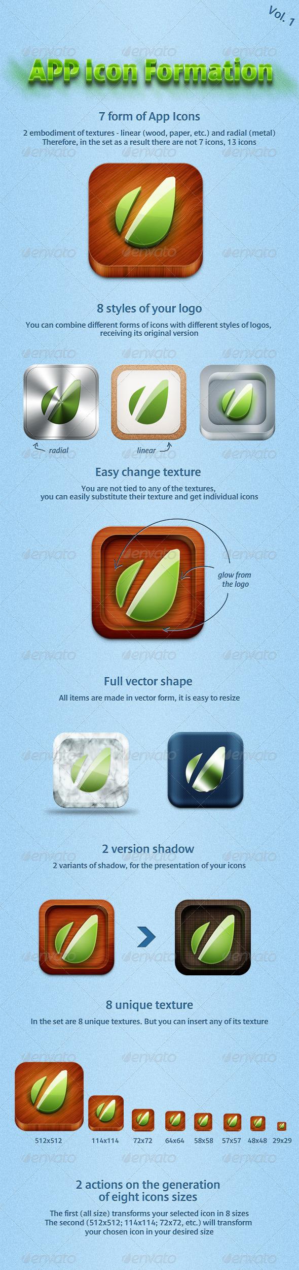 GraphicRiver App Icon Formation 1770797