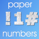 Paper Numbers & Extra Characters - VideoHive Item for Sale