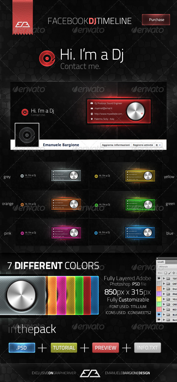 GraphicRiver Dj Facebook Timeline 1779422