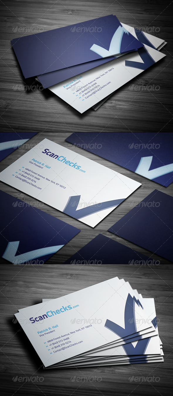 Graphic River Smart Checkmark Business Card Print Templates -  Business Cards  Corporate 1779601