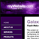 Galaxy Flash Web Site Template - ActiveDen Item for Sale