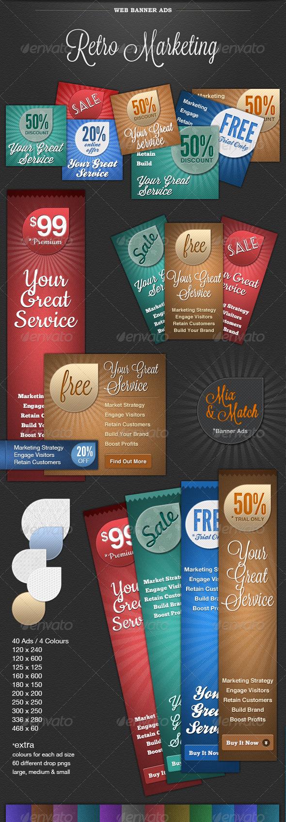 GraphicRiver Web Banner Ads Retro Marketing 1780896