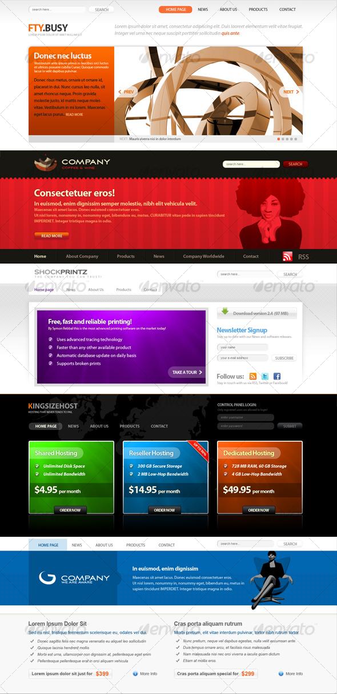 GraphicRiver SOFA 5 WEB site headers 69316