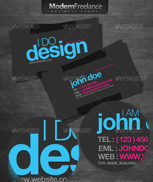 GraphicRiver Modern Freelance Business Cards 69391