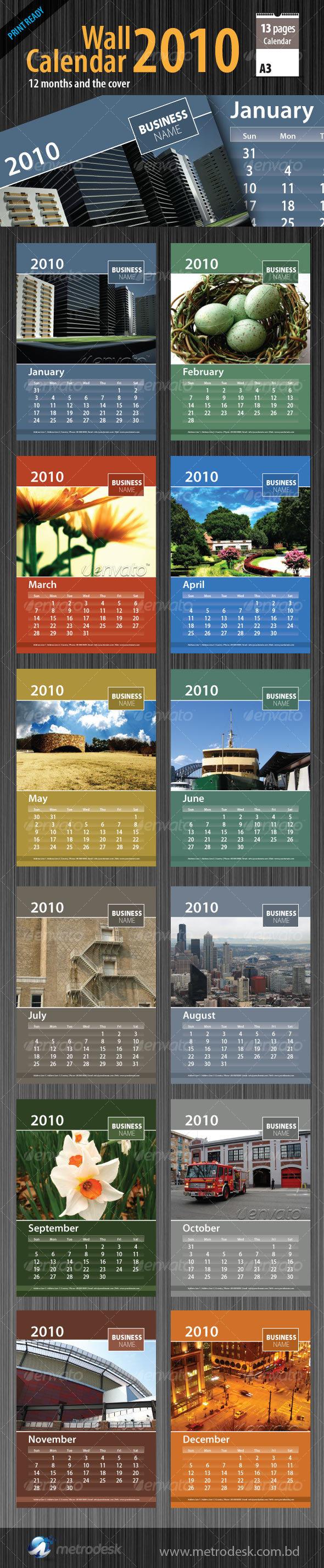 GraphicRiver Wall Calendar 2010 [ 12 page ] 69392
