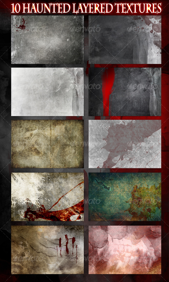 GraphicRiver 10 Haunted Layered Textures 69405