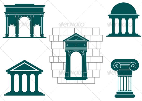 GraphicRiver Symbols of ancient buildings 69448