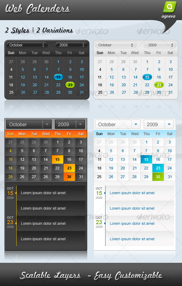GraphicRiver Web Calenders 69523