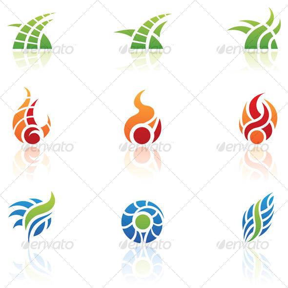 GraphicRiver nature elements icons 69632