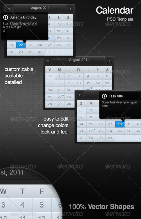 GraphicRiver Calendar PSD Template 211171