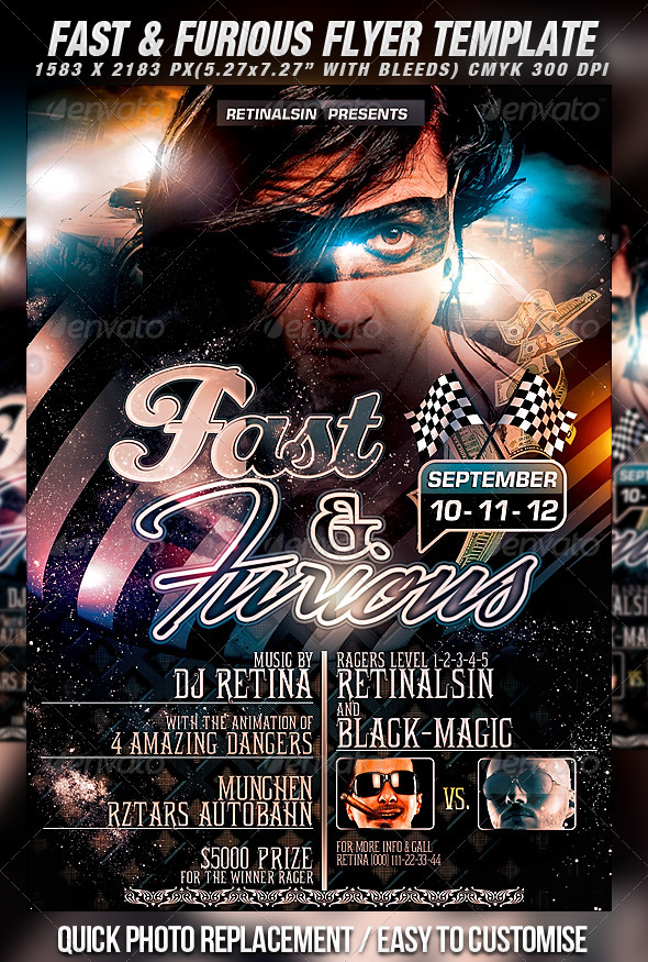 GraphicRiver Fast & Furious Flyer Template 482599