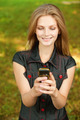 Girl with cellular telephone - PhotoDune Item for Sale
