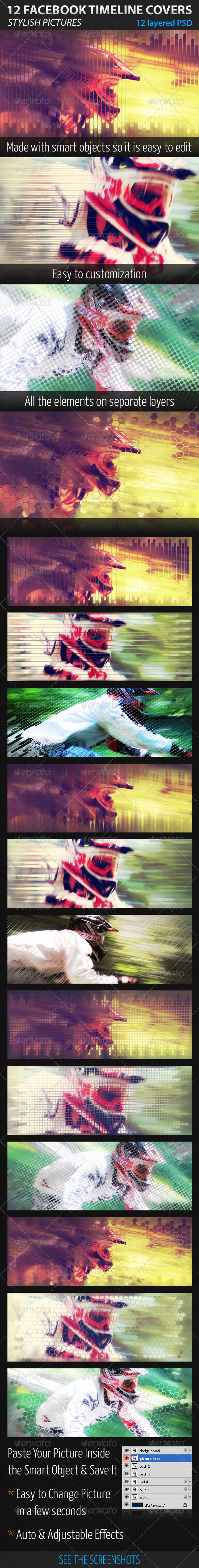 GraphicRiver 12 Facebook Timeline Covers 1791518