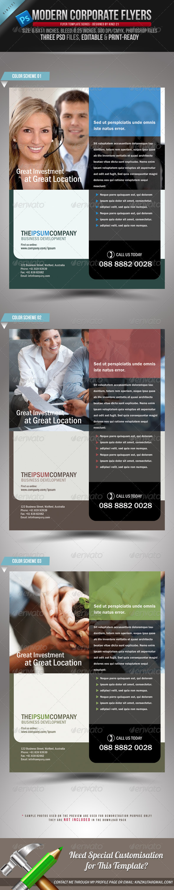 GraphicRiver Modern Corporate Flyers 112243