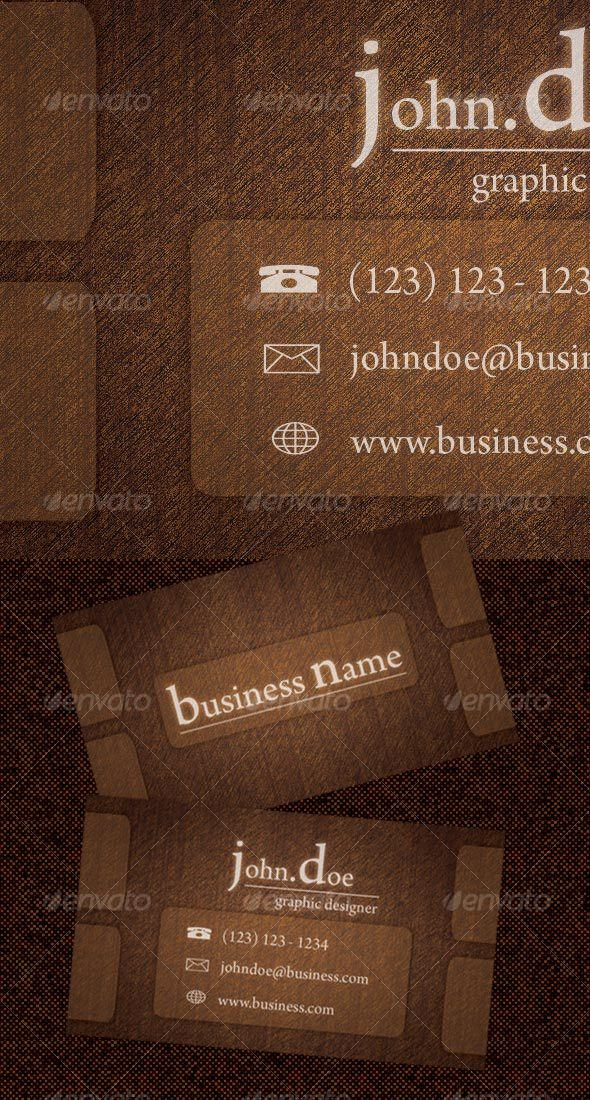 GraphicRiver 'Rough Wood Business Card 70096