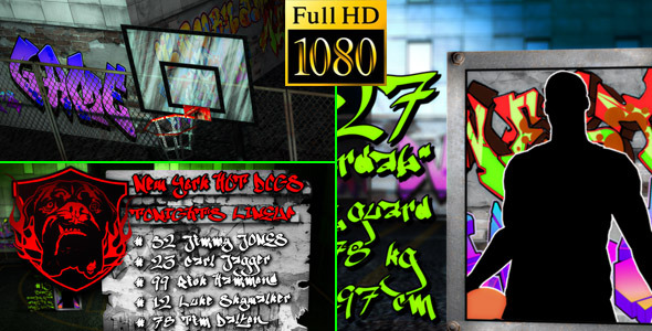 VideoHive Basketball Team Lineup Street Edition 1781437