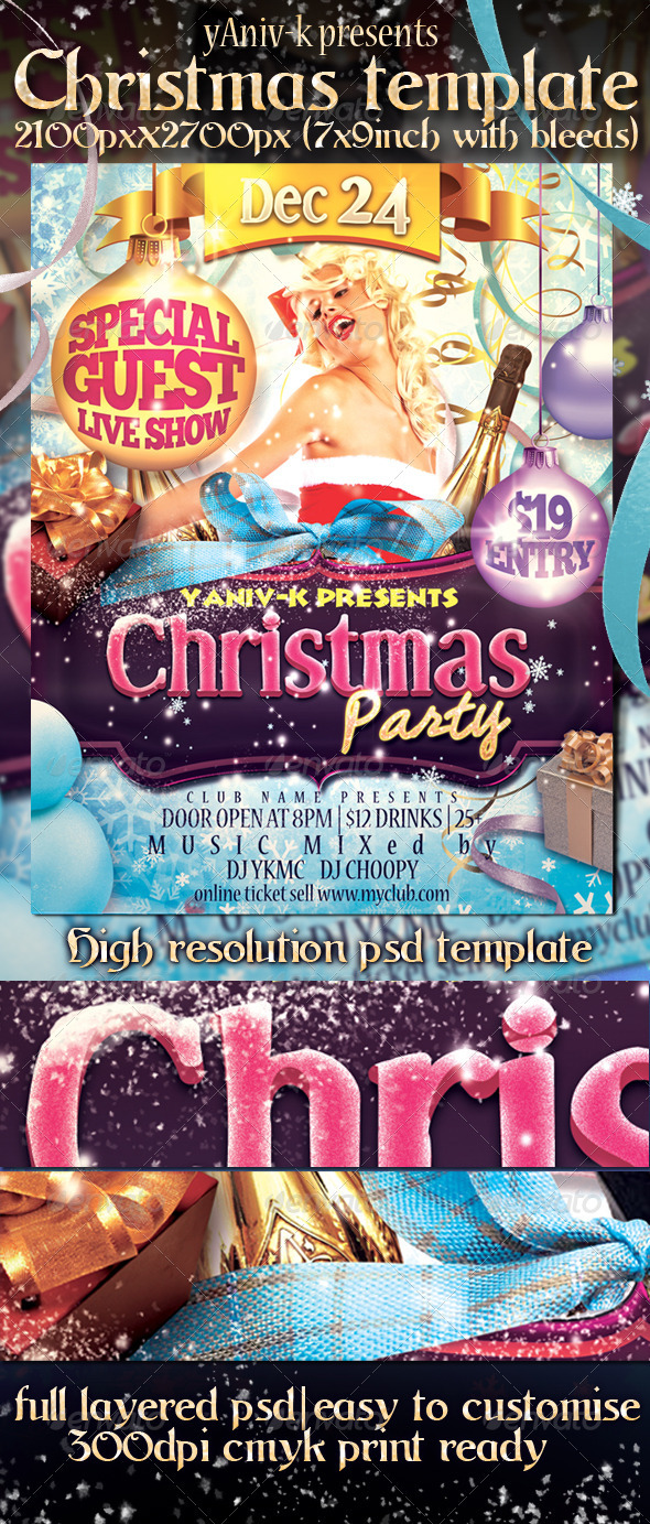 Graphic River Christmas Party Flyer Template Print Templates -  Flyers  Events  Clubs & Parties 1041192