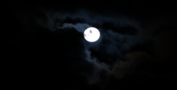 VideoHive Landscape HD Full Moon in Night Sky 1801247