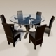 3D Table and Chairs  - 3DOcean Item for Sale