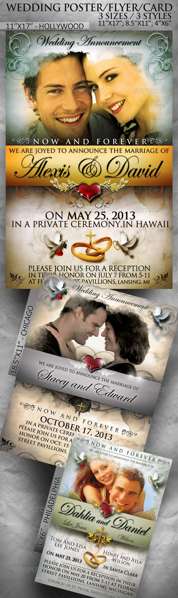 GraphicRiver Wedding Poster Flyer Card in 3 sizes 1803024