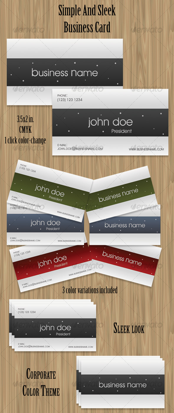 GraphicRiver Simple And Sleek Business Card 70614