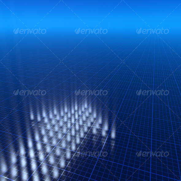 GraphicRiver 3D blue background 70788