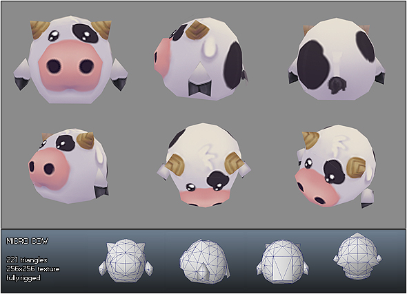 3DOcean Low Poly Micro Cow Ulli 180087