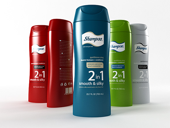 3DOcean shampoo bottle 70945