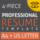 Professional Resume/CV - GraphicRiver Item for Sale