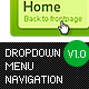 Dropdown Menu Navigation - GraphicRiver Item for Sale