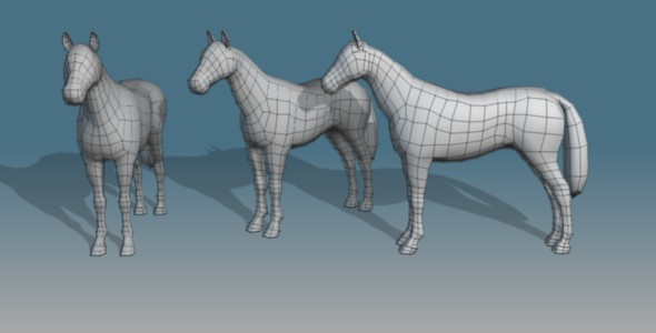 3DOcean Lowpoly Horse Base Mesh 71038
