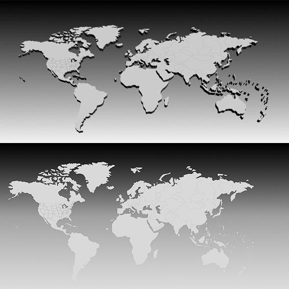 3DOcean 3D World Map 71147