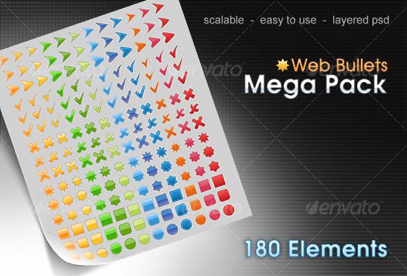 Graphic River web bullets pack Web Elements -  Miscellaneous 71309