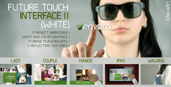After Effects Project - VideoHive Future Touch Interface II White 1832015