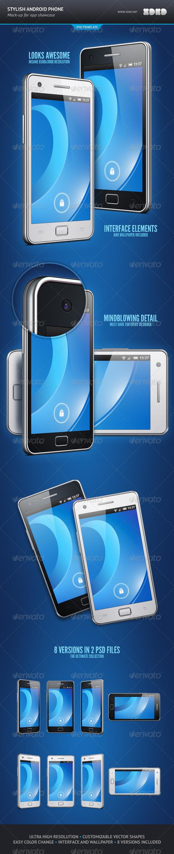 GraphicRiver Stylish Android Phone App Showcase Mockup 755525