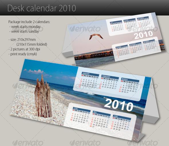 GraphicRiver Desk calendar 2010 71389