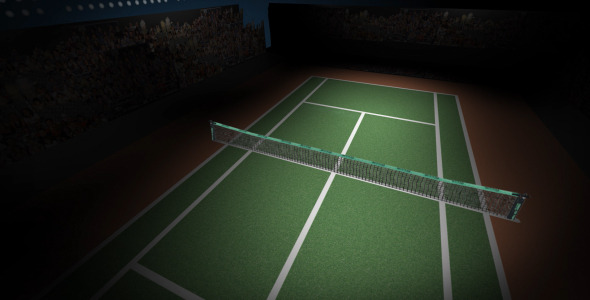 VideoHive Animated Rotating Tennis Court 1835148