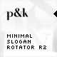 AS2 XML Minimal Slogan Rotator R2 - ActiveDen Item for Sale