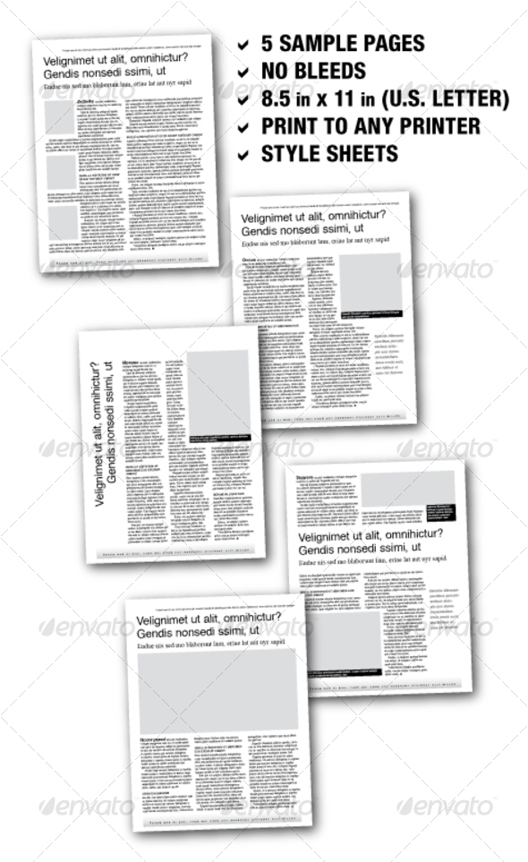 GraphicRiver U.S Letter Editorial Samplers 02 5 pages 71502