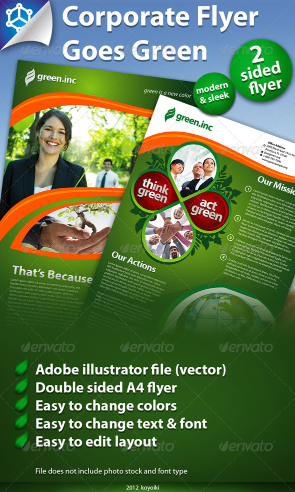 GraphicRiver Corporate Flyer Green 1837302