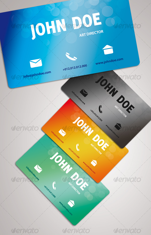 GraphicRiver GRADIENT business card 71528