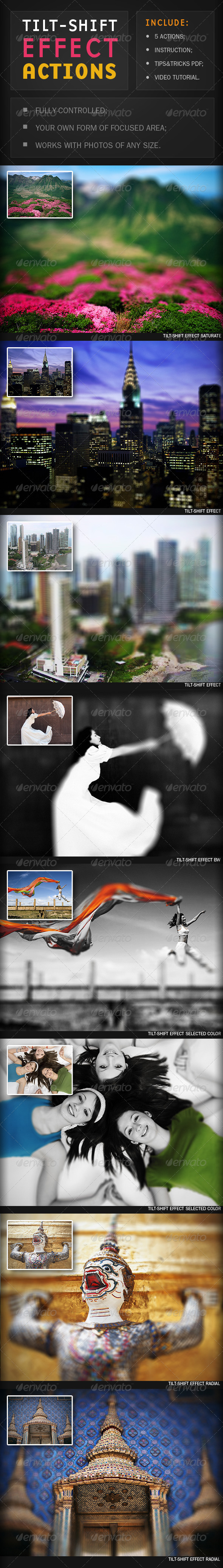 GraphicRiver 5 Tilt-shift Effect Actions 1838116
